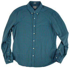 J. Crew Men's Plaid Checks Button-Down shirt XL